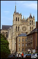 Houses and Cathedral, Amiens. France ( color)