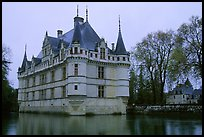 Azay-le-rideau chateau. Loire Valley, France (color)