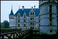 Azay-le-rideau chateau entrance. Loire Valley, France ( color)