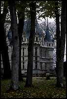 Azay-le-rideau chateau and Park. Loire Valley, France ( color)