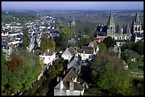 View of Loches from the dungeon. Loire Valley, France ( color)