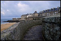 Along the ramparts of the old town, Saint Malo. Brittany, France ( color)