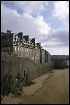 Ramparts of the old town, Saint Malo. Brittany, France ( color)