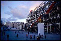Georges Pompidou center and Beaubourg plaza. Paris, France