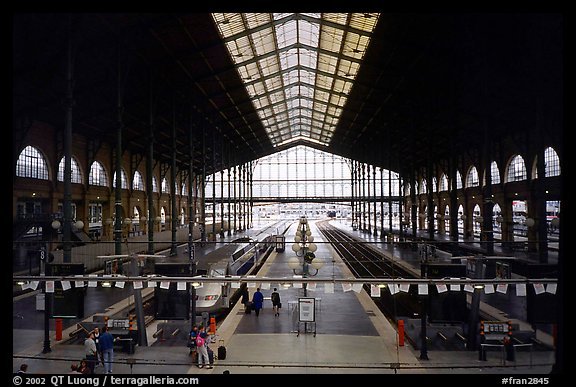 Gare du Nord train station. Paris, France (color)