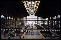 Gare du Nord train station. Paris, France ( color)
