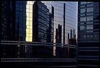 Reflections in modern office buildings, La Defense. France ( color)