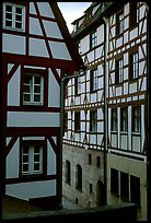 Half-timbered houses. Strasbourg, Alsace, France