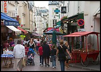 Rue Mouffetard. Quartier Latin, Paris, France