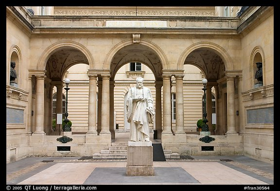 Courtyard of the College de France. Quartier Latin, Paris, France