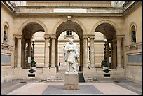 Courtyard of the College de France. Quartier Latin, Paris, France (color)