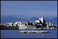Antibes ramparts, and old town. Maritime Alps, France ( color)