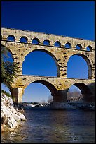 Bridge of the river Gard. France (color)