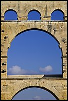 Arches detail, Pont du Gard. France (color)