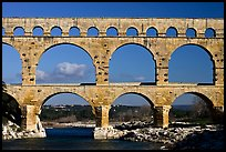 Pont du Gard Roman Aqueduct. France (color)