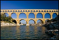 Gard River and Pont du Gard. France (color)