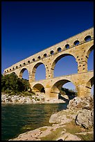 River Gard and Gard Bridge. France (color)