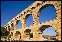 Ancient Roman Aqueduct, Gard River. France (color)
