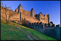 Medieval fortified city. Carcassonne, France (color)