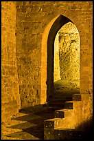 Stone gate. Carcassonne, France ( color)
