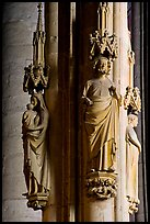 Gothic statues, St-Nazaire basilica. Carcassonne, France