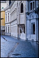Pavement and buildings, Place St Andre. Grenoble, France