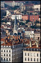 View of city and St-George church. Lyon, France ( color)