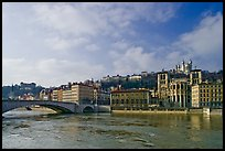 Saone River and Old Town. Lyon, France