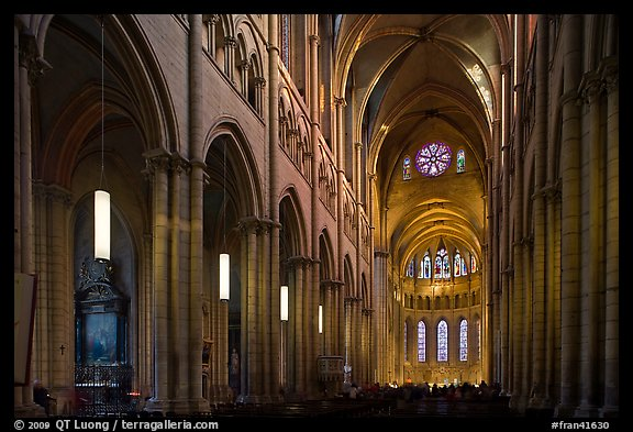 Nave of Saint Jean Cathedral. Lyon, France