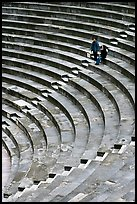 Couple standing in amphitheater, Orange. Provence, France ( color)