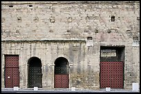 Facade detail, Roman Theater. Provence, France ( color)