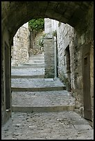 Arch and paved stairs, Les Baux-de-Provence. Provence, France ( color)