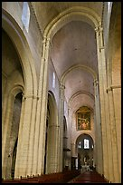 Romanesque style nave, St Trophime church. Arles, Provence, France ( color)
