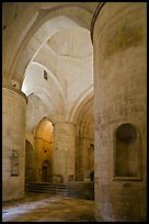 Interior of Saint Honoratus church, Alyscamps. Arles, Provence, France ( color)