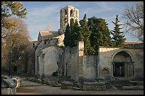 Medieval Church of Saint Honoratus in Les Alyscamps. Arles, Provence, France ( color)