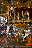 Old carousel. Avignon, Provence, France (color)