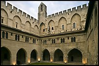 Courtyard, Papal Palace. Avignon, Provence, France (color)