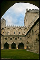 Inside Courtyard, Palace of the Popes. Avignon, Provence, France (color)