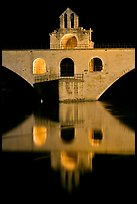 Chapel of Saint Nicholas on the St Benezet Bridge. Avignon, Provence, France (color)