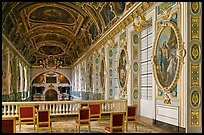 Chapel seen from upper floor, Fontainebleau Palace. France ( color)