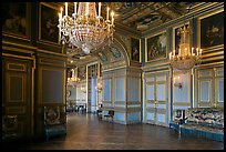 Entrance of the Louis 13 room, Fontainebleau Palace. France ( color)