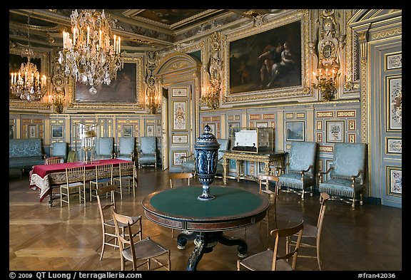 Salon Louis XVIII, Chateau de Fontainebleau. France