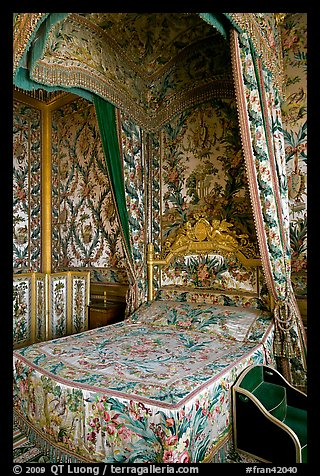 Queen's room, Fontainebleau Palace. France (color)