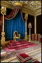 Throne room, Palace of Fontainebleau. France ( color)