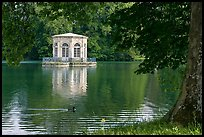Pavillion and Etang des Carpes, Fontainebleau Palace. France (color)