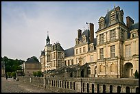 Palace of Fontainebleau, late afternoon. France