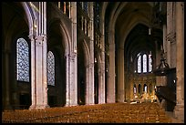 Interior of Chartres Cathedral. France ( color)