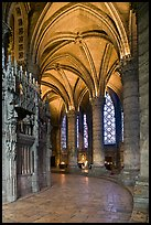 Ambulatory, Cathedrale Notre-Dame de Chartres. France