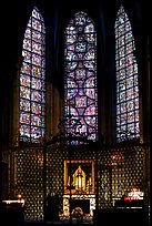 Chapel and stained glass windows, Chartres Cathedral. France ( color)