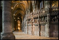 Sanctuary and Aisle, Cathedral of Our Lady of Chartres,. France ( color)